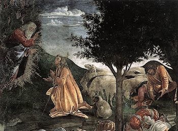 Scenes from the Life of Moses [detail: 2] by Sandro Botticelli